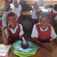 Orphans in Kitwe, Zambia, can attend school.