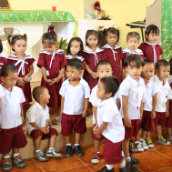 In the kindergarten of Union Ubay, Philippines